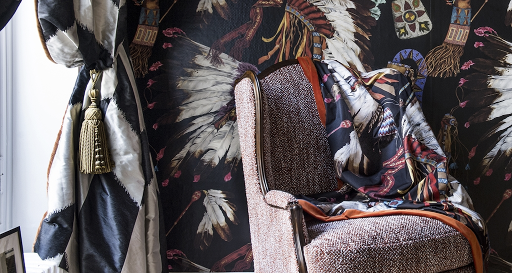 Grand Canyon pattern by Pierre Frey debuted during Paris Déco-Off.