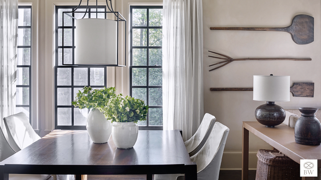 Beth Webb designed this beautiful room with hints of distressing.
