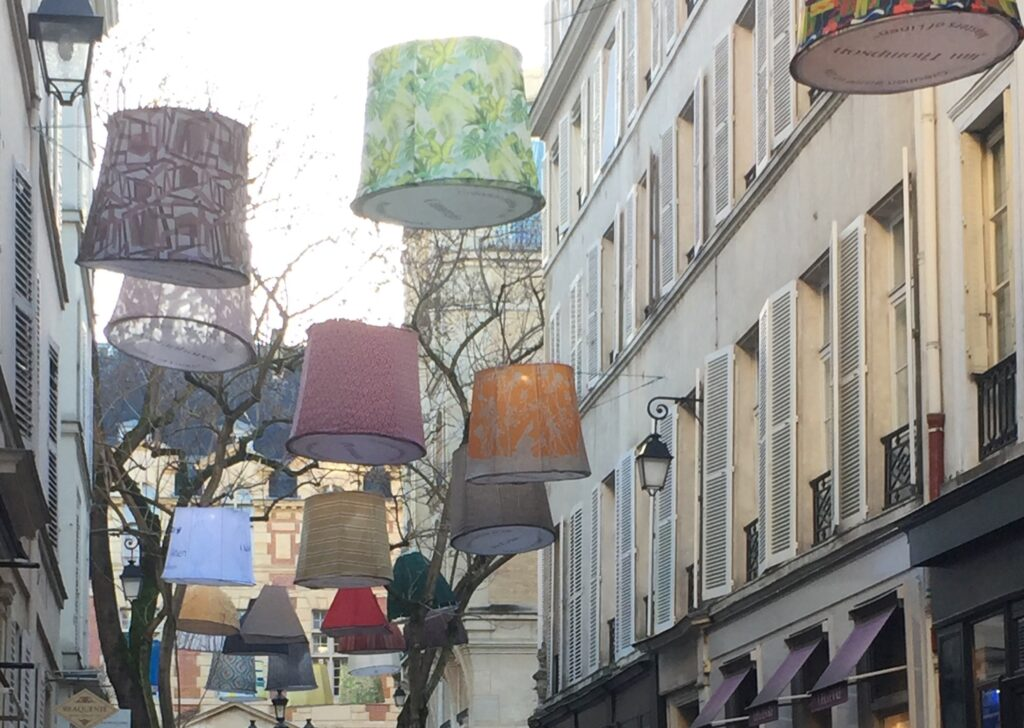 Lanterns strung along the streets on the Left Bank always signal Paris Déco Off is in full swing.