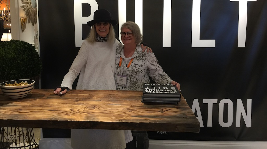 It seemed Diane Keaton genuinely had fun signing books at Aidan Gray Home, here with our CEO Saxon Henry!