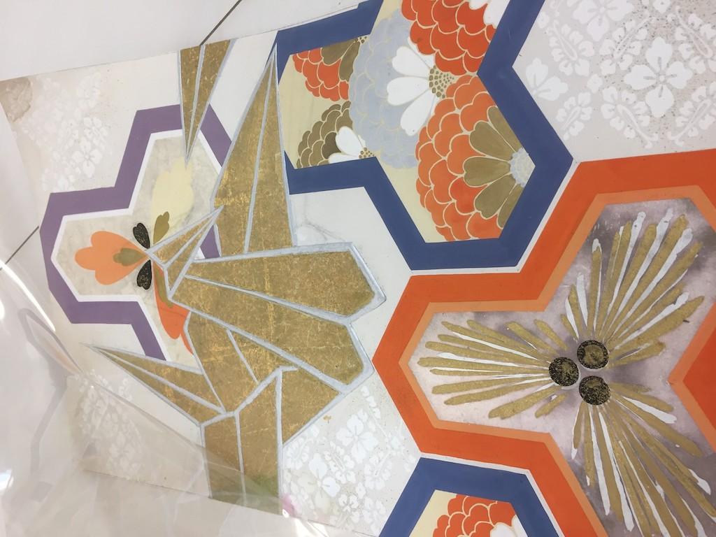 Kimono textiles from Kravet's textiles.