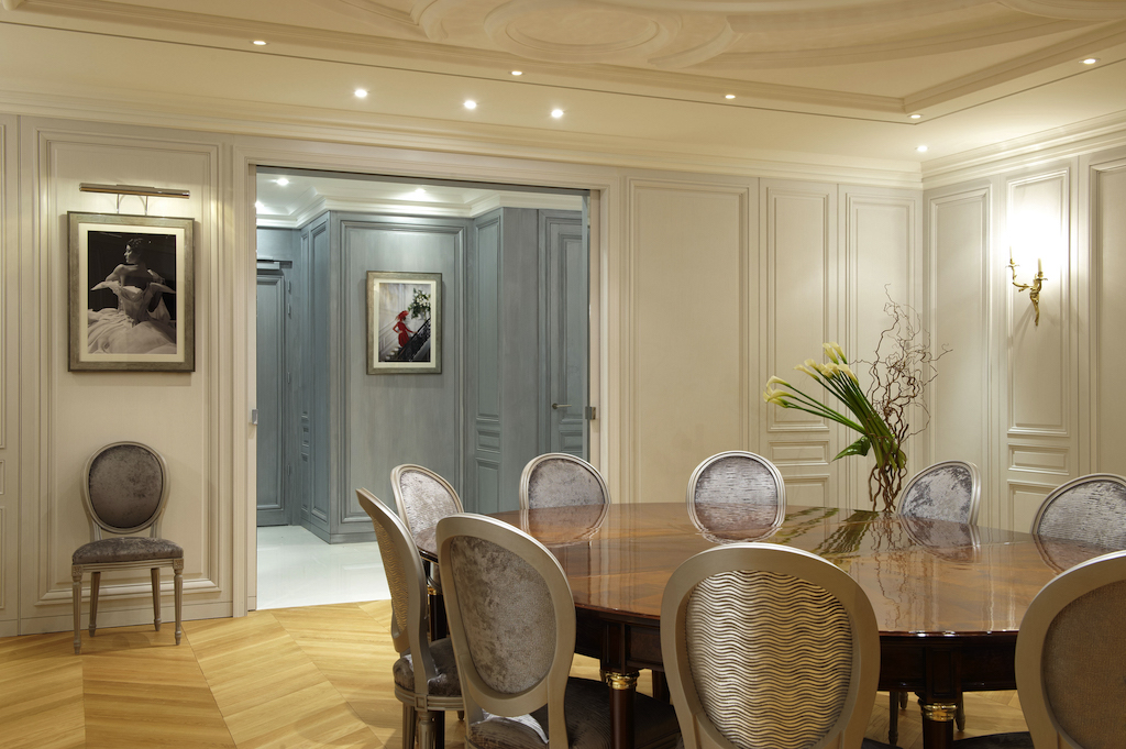 The Christian Dior Suite at the Hôtel Barrière Le Majestic in Cannes designed by Kirei Studio.