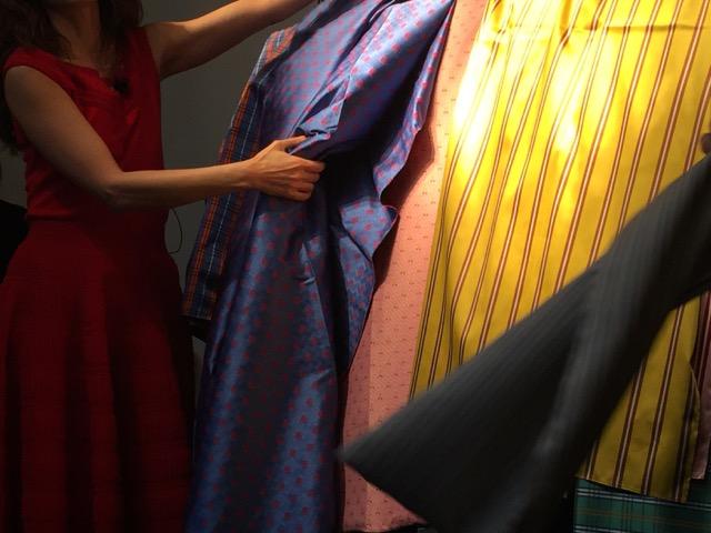 Menswear influenced textiles in Dedar's new introductions.