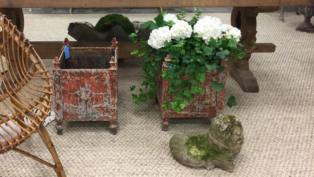Huff Harrington Home had some soulful antiques in their stand at AmericasMart.