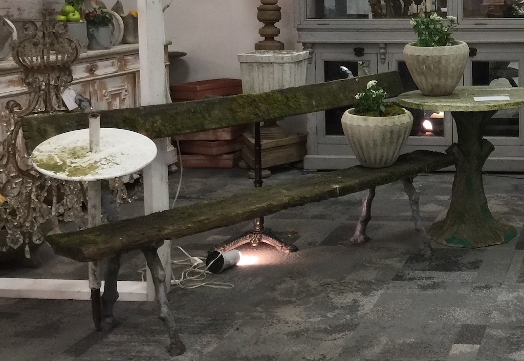 Antiques in the Artifacts Atlanta stand at AmericasMart personified patina in interior design.