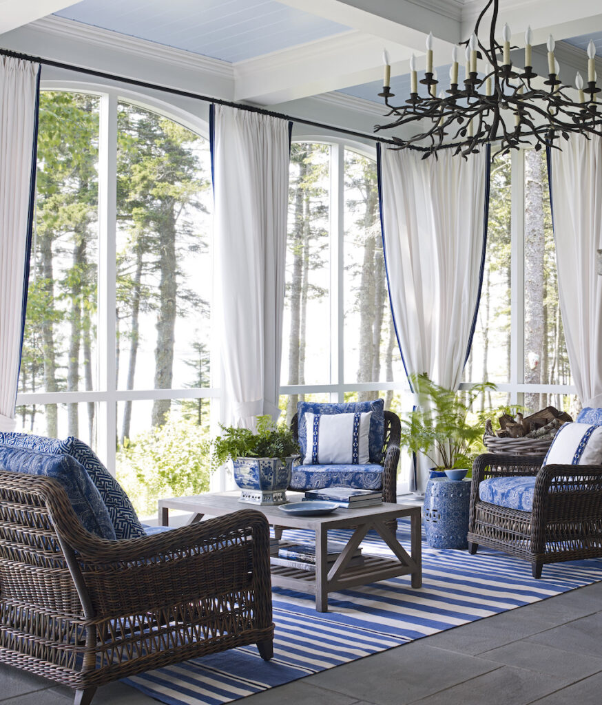 A home in Port Clyde, Maine, designed by Suzanne Kasler.