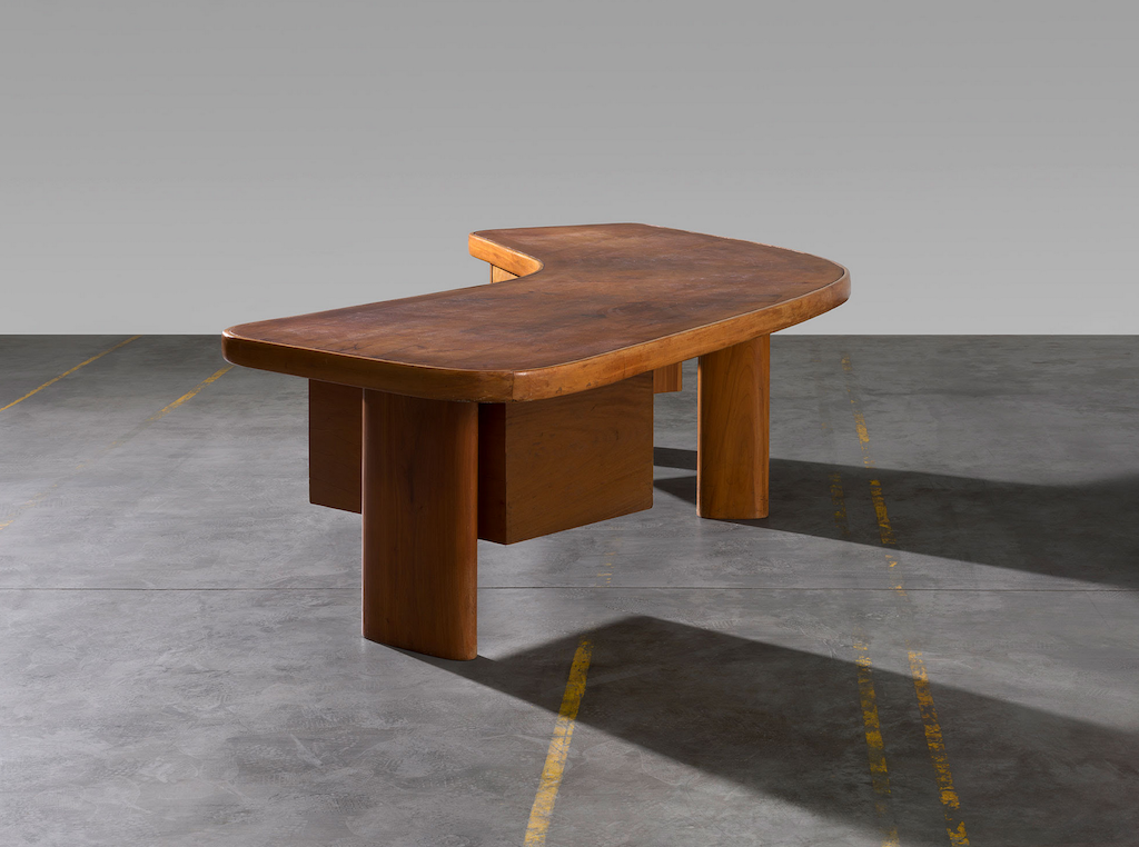 Charlotte Perriand designed the Free Form desk in 1963; it is now offered through Laffanour Galerie Downtown.