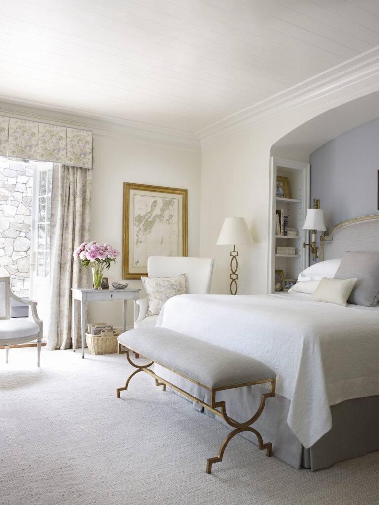 A master bedroom in a home in Port Clyde, Maine.
