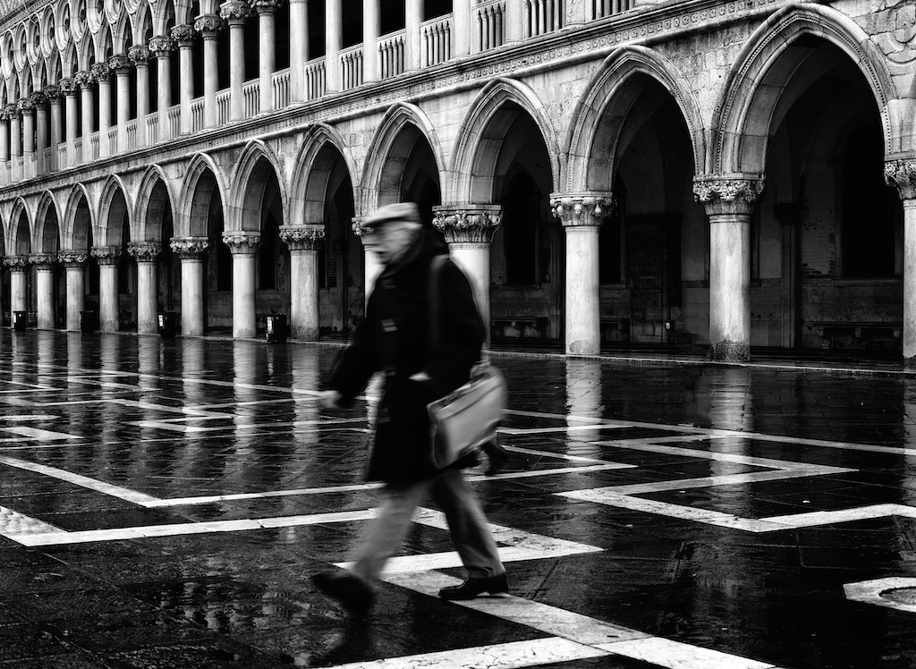 You can feel the age of Venice in this black and white image by Tony Sellen.