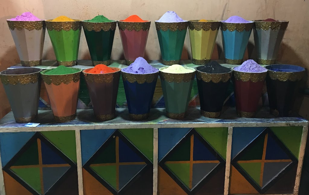 Pots of color photographed by Aviva Stanoff