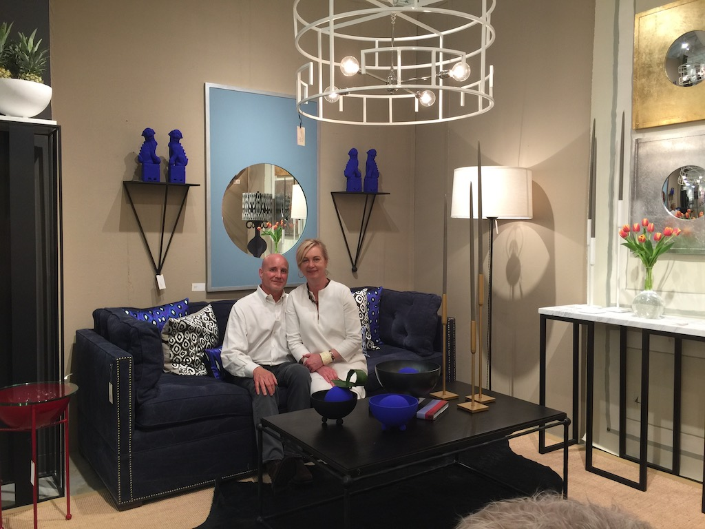 The James sofa at High Point Market debuting in the vanCollier booth.