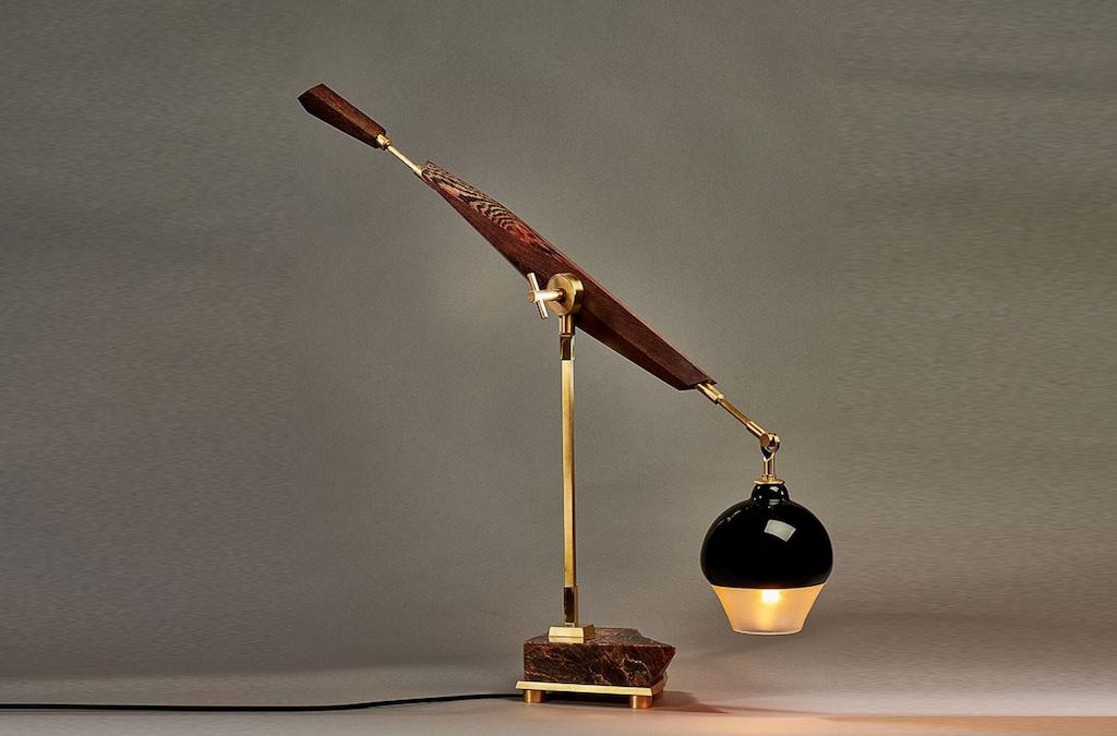 New to Una Malan is the Matsuri desk lamp by Joseph Pagano.