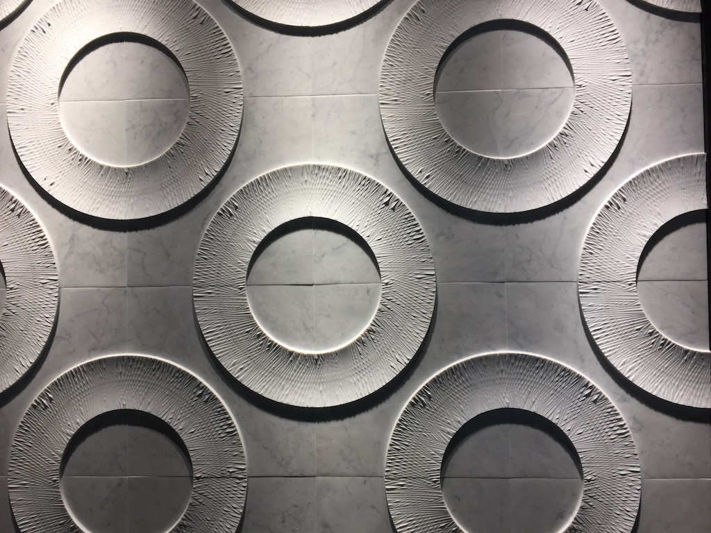 Petra Antiqua debuted Carva at the Coverings trade show.