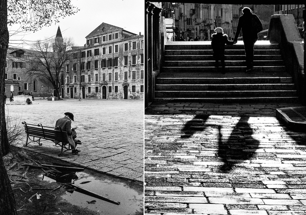 Pietro De Albertis focused on the human form for his black and white images of Venice.