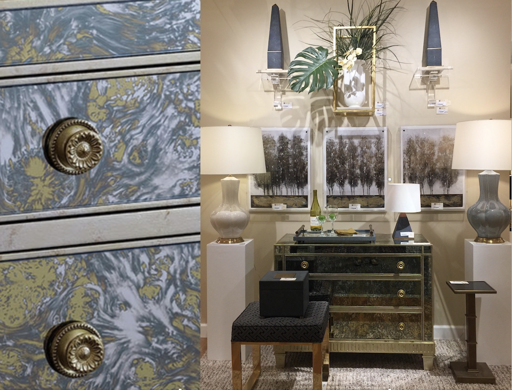 Port 68 brought the beautiful Belair chest to their showroom in AmericasMart.
