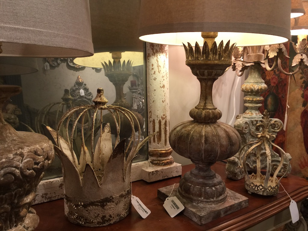 Provence Home has many products exuding distressing in their showroom in AmericasMart.