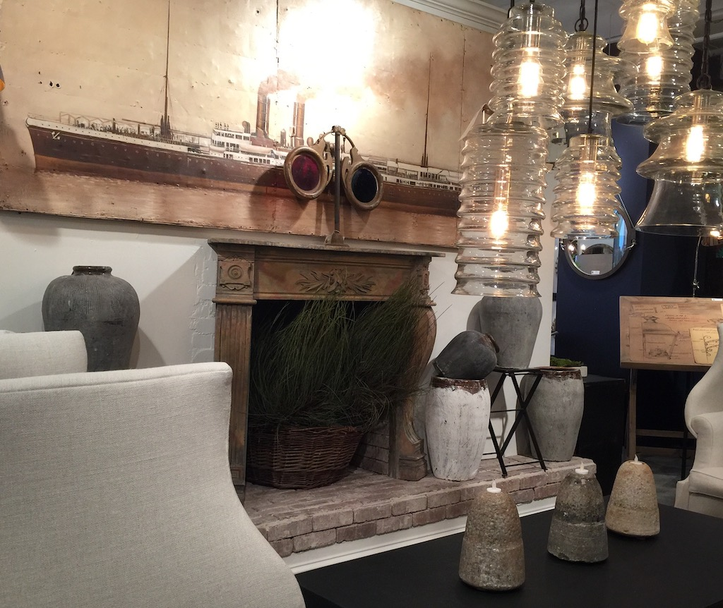 Bobo has a fabulously unique point of view in their showroom in AmericasMart, so many of the products perfect for patina in interior design.