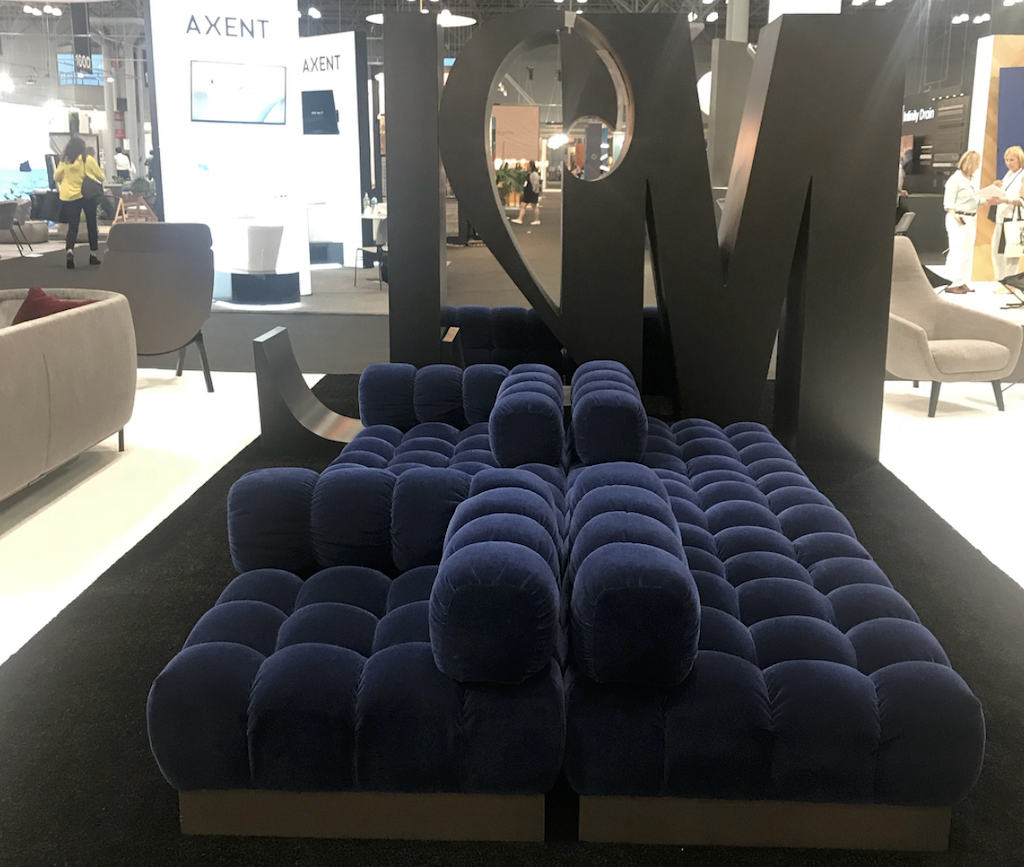 M2L had the Deep Tuft in the Probber Collection in their booth at ICFF.