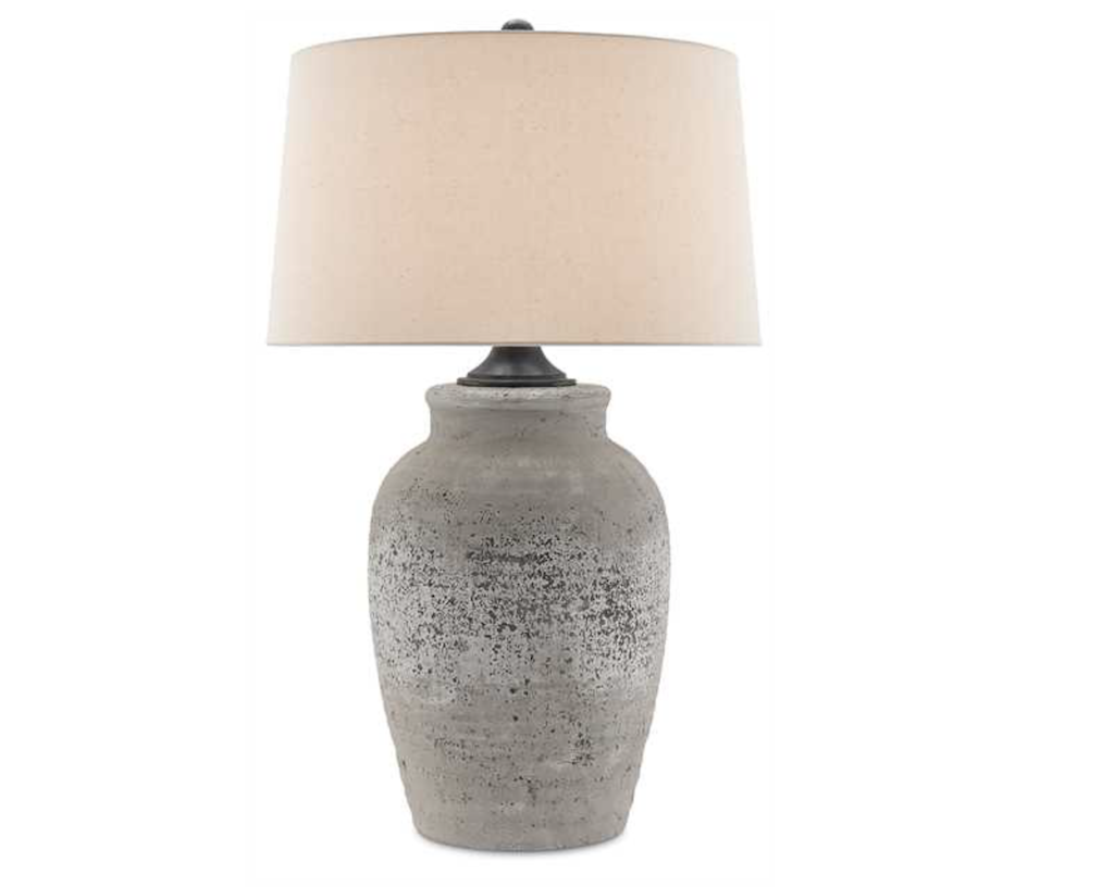 The Currey & Company Quest Table Lamp exudes incredible patina in interior design though it is new.
