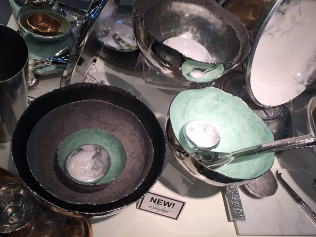 Julia Knight introduced a beautiful collection of raw-edged bowls during Maison et Objet that match our home decor color trends.