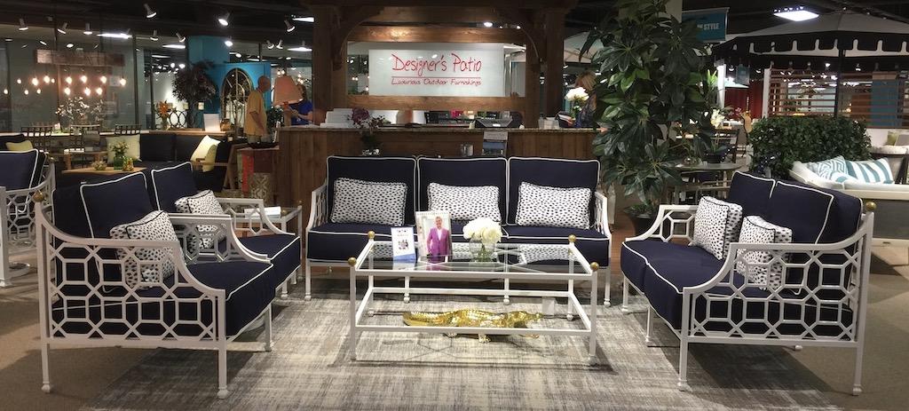 Barclay Butera's patio furniture for Designer's Patio during Dallas Market.
