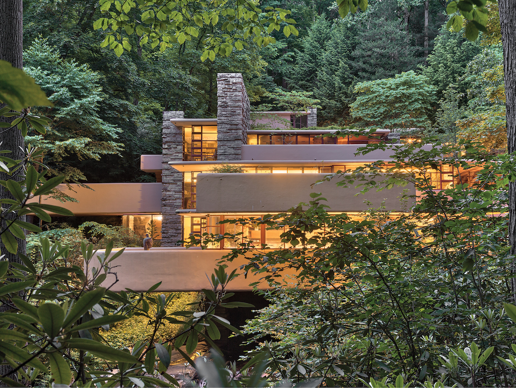 Frank Lloyd Wright designed Fallingwater in Mill Run, Pennsylvania, one of his most famous homes. Image © Andrew Pielage.