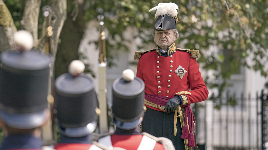 Peter Bowles as the Duke of Wellington in the PBS Masterpiece series Victoria. Image courtesy PBS.