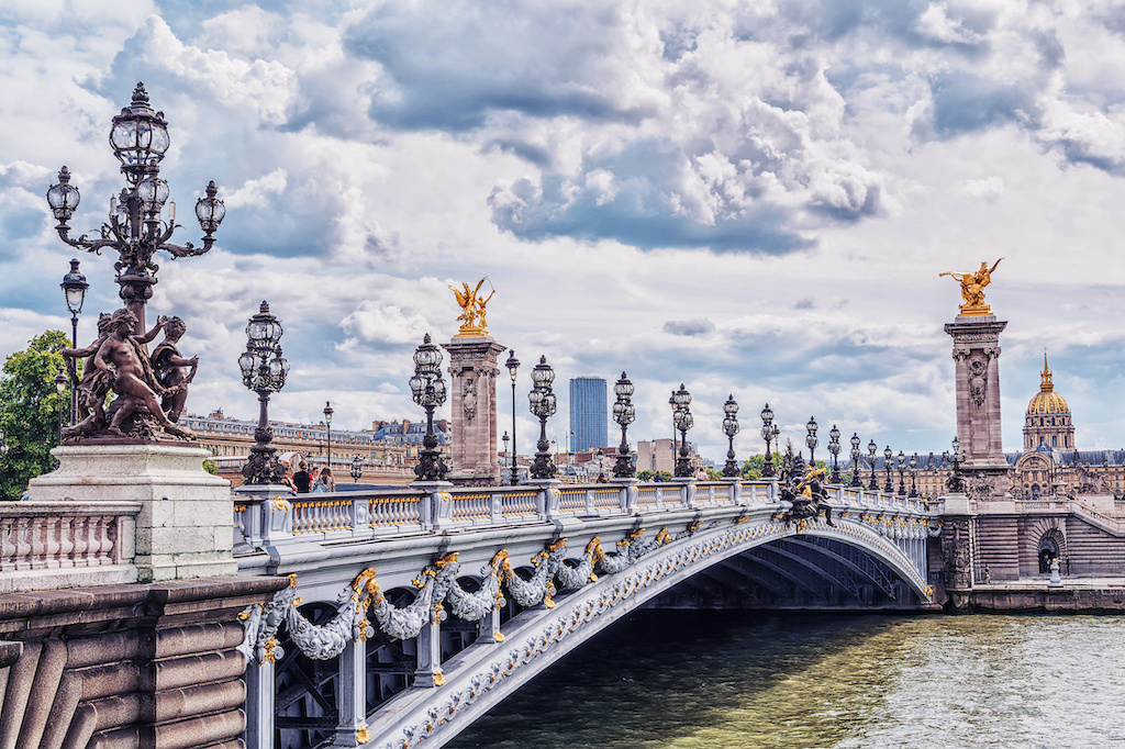 The Pont Alexandre III in Paris in all its glory!