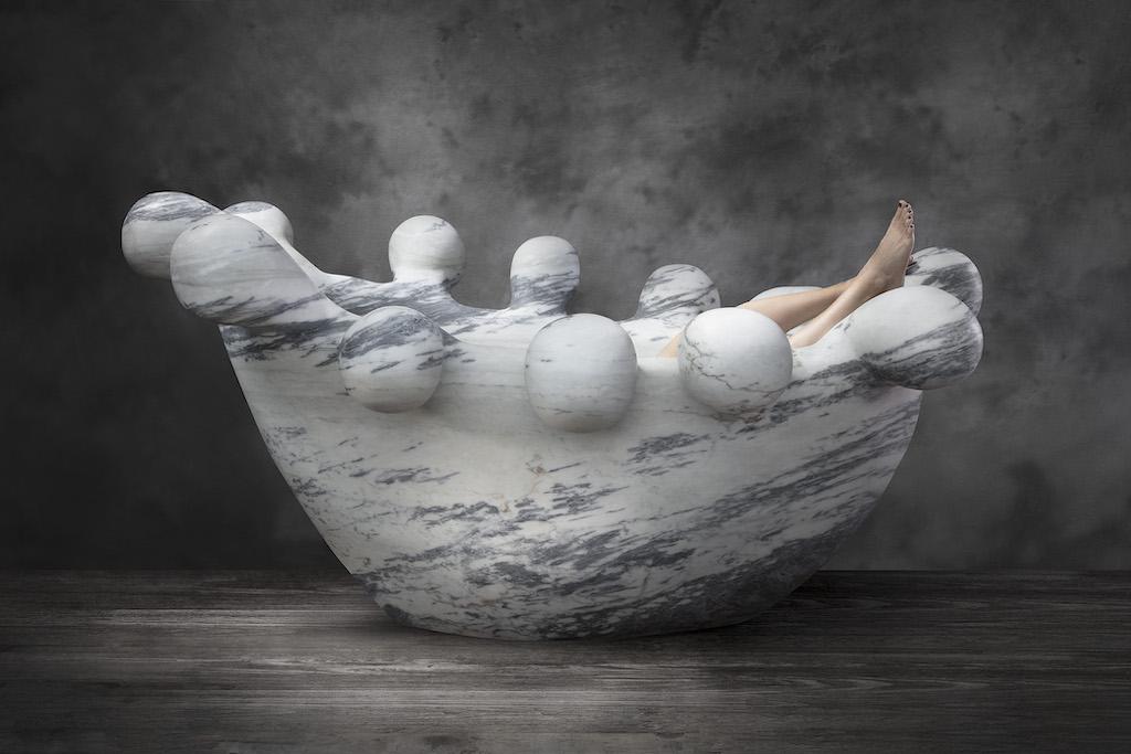 Bathy Bates, a monumental tub showing in Design Miami at R & Company.