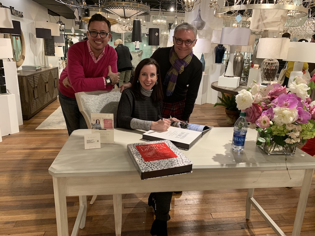Jason Oliver Nixon and John Loecke attend Jennifer Boles' book signing at Currey & Company.