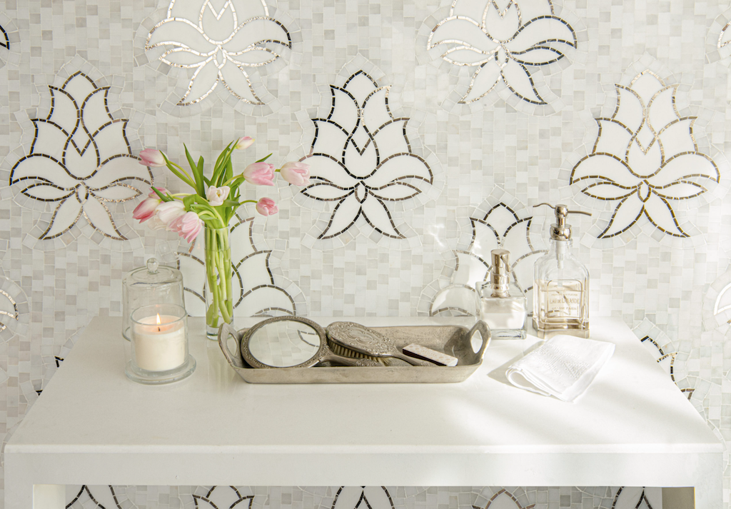 Amrita is one of the new mosaics that pays homage to embroidery.