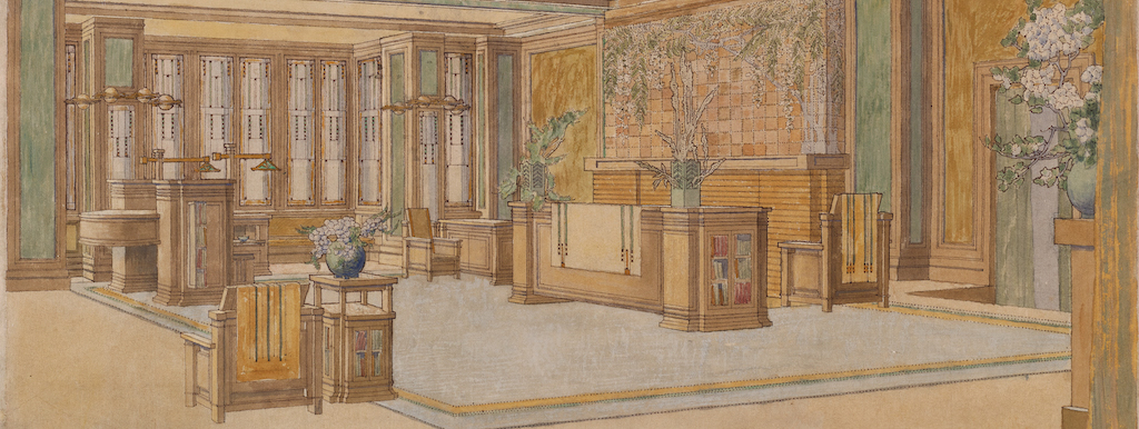 """This sketch of the renovation plans for the C. Thaxter Shaw House, a unbilt project, also illustrates the lesson """"Form a room with furniture."""""""