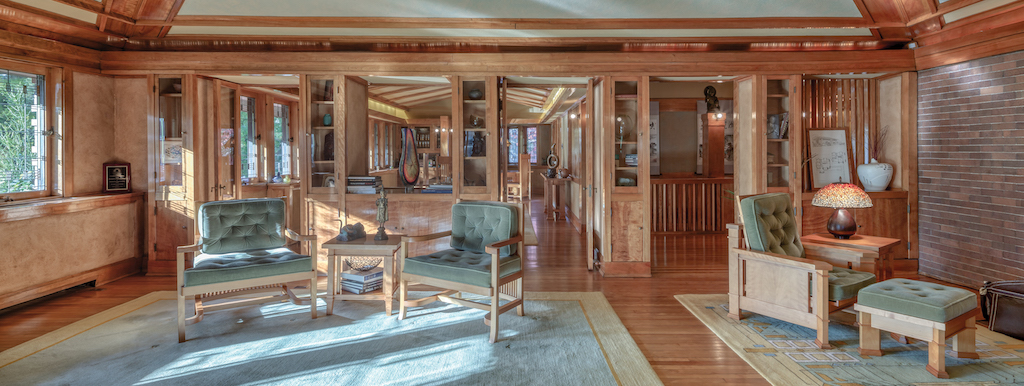 """The Arthur and Grace Heurtley House in Oak Park is one of the images illustrating the lesson """"Take care of the luxuries in life."""" Image © Andrew Pielage."""