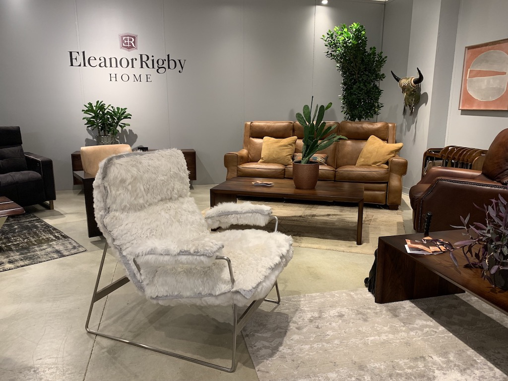 Eleanor Rigby Home was showing the Snoopy chair during fall High Point Market, one of the softest asymmetrical design elements we have ever seen.