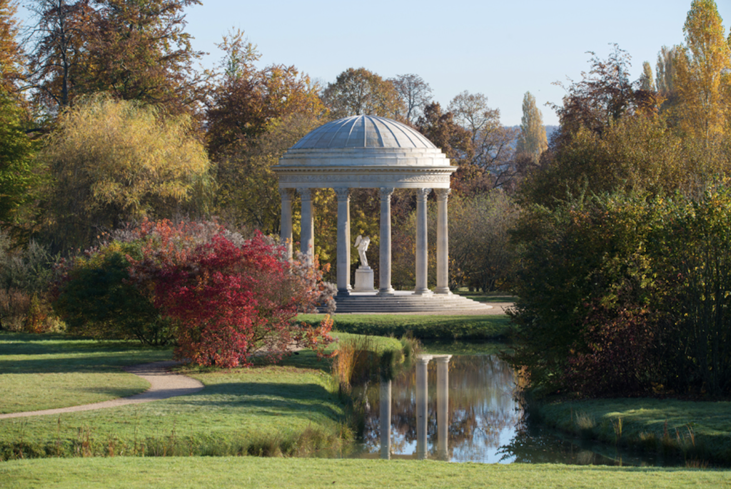 The Temple of Love in the English Gardens on the grounds of the Petit Trianon.