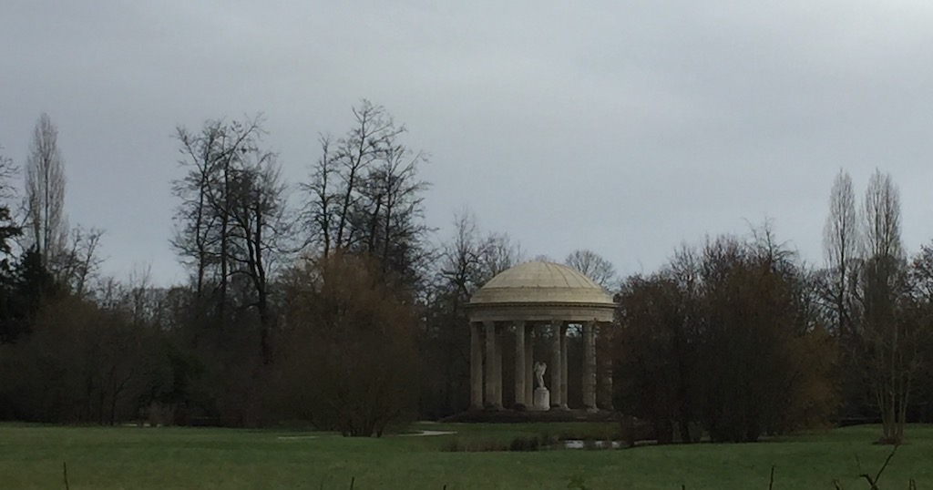 Our view of the Temple of Love on that gloomy day in January. Image © Design Diary.