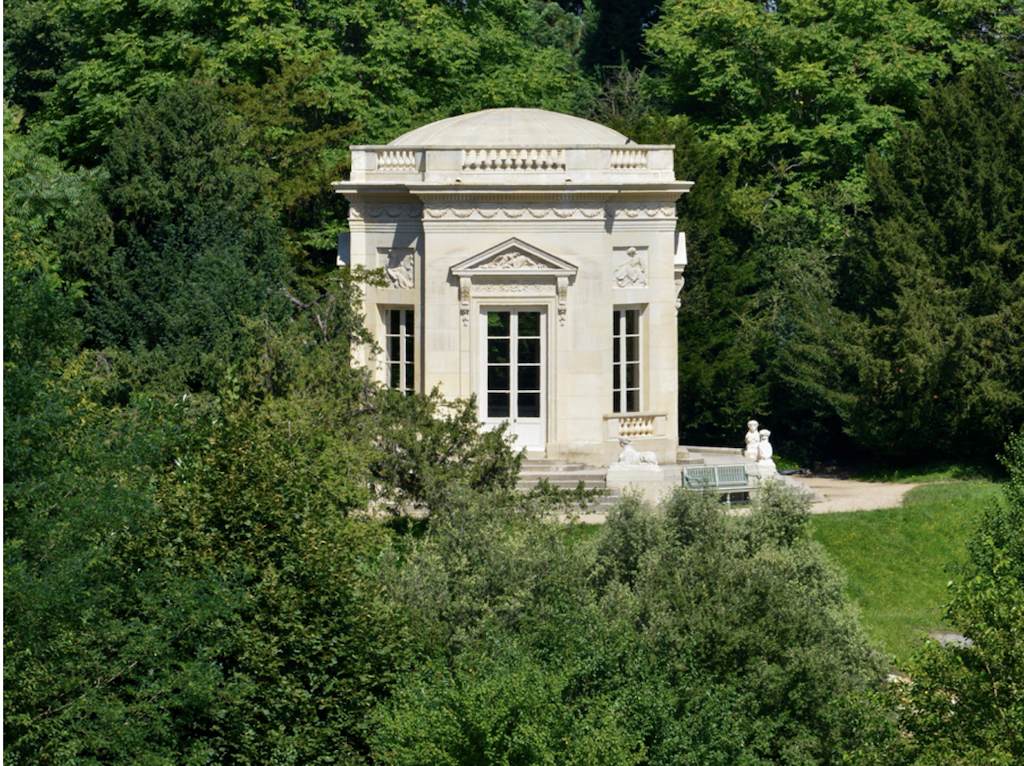 The Belvedere on the grounds of the Petit Trianon set within the English Gardens.