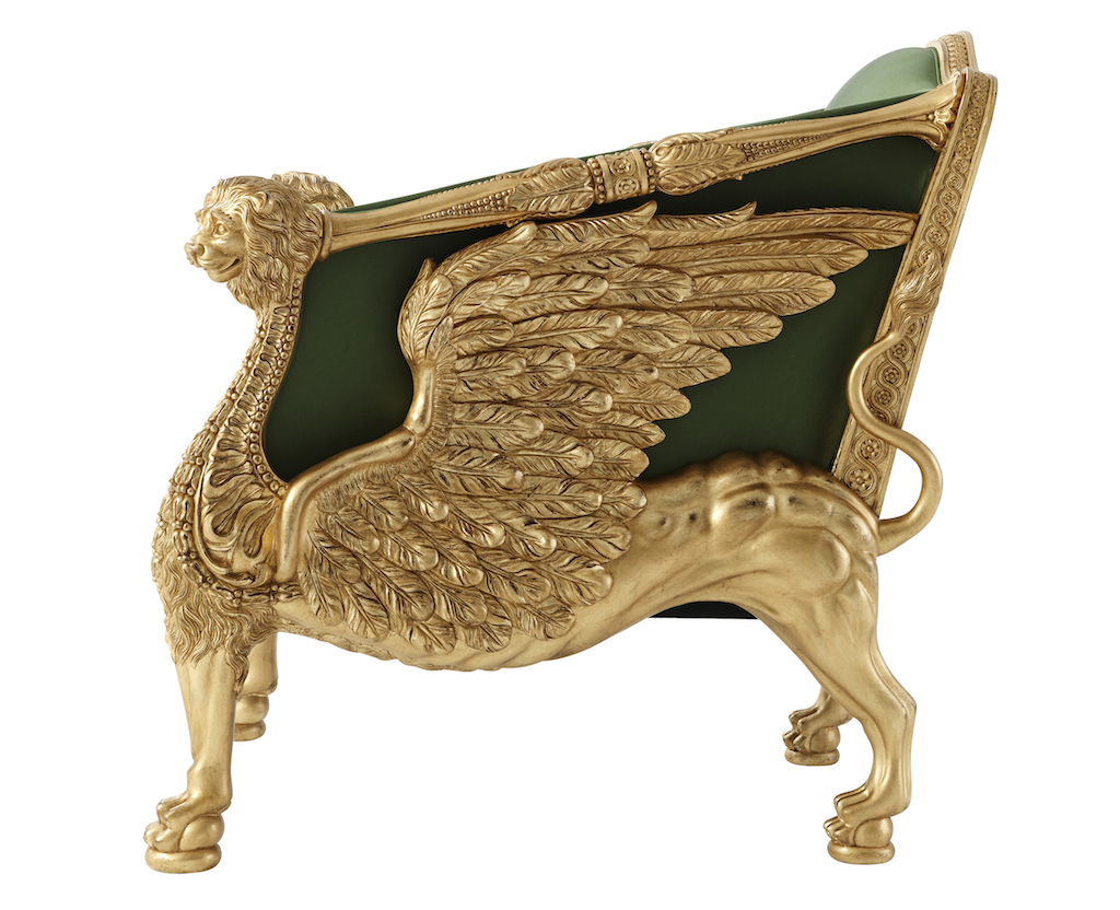 A formal armchair in the Althorp Living Collection.