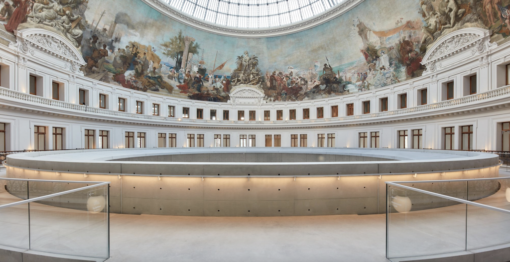 The rotunda of the Bourse de Commerce — Pinault Collection designed by Tadao Ando and a team of architects. The modern structure was inserted into the historical envelope. Photo © Tadao Ando Architect & Associates, Niney et Marca Architectes, agence Pierre-Antoine Gatier. Photo credit: Maxime Tetard.