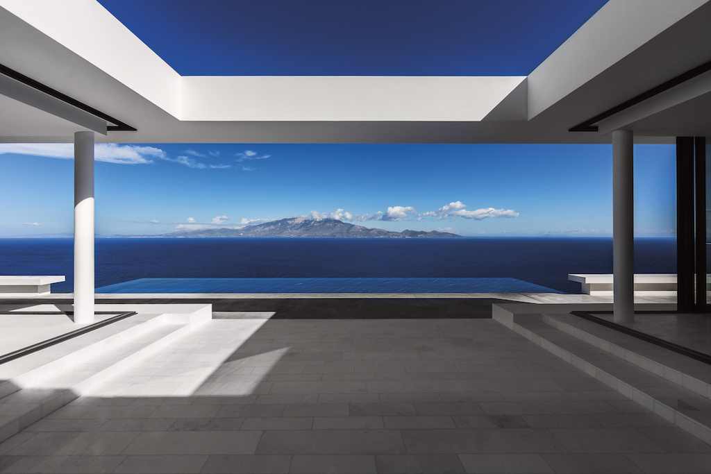 Standing inside the Silver House looking toward Cephalonia. Image credit: Serge Anton.
