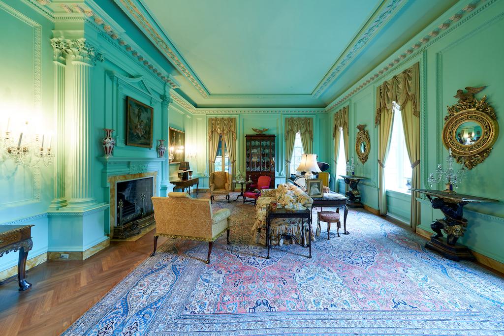 The morning room with its beautiful green walls. Image courtesy of Atlanta History Center.