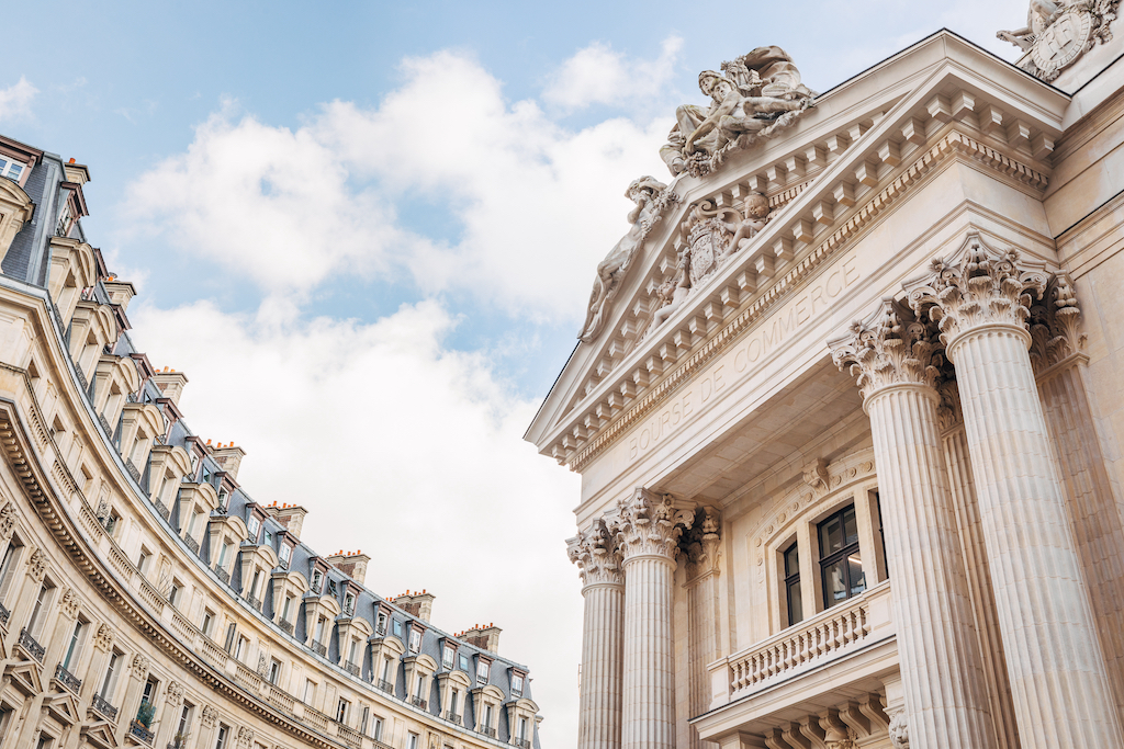 This view of the historical building that holds the Pinault Collection doesn't hint at the contemporary architecture within it. Image credit: Vladimir Partalo.