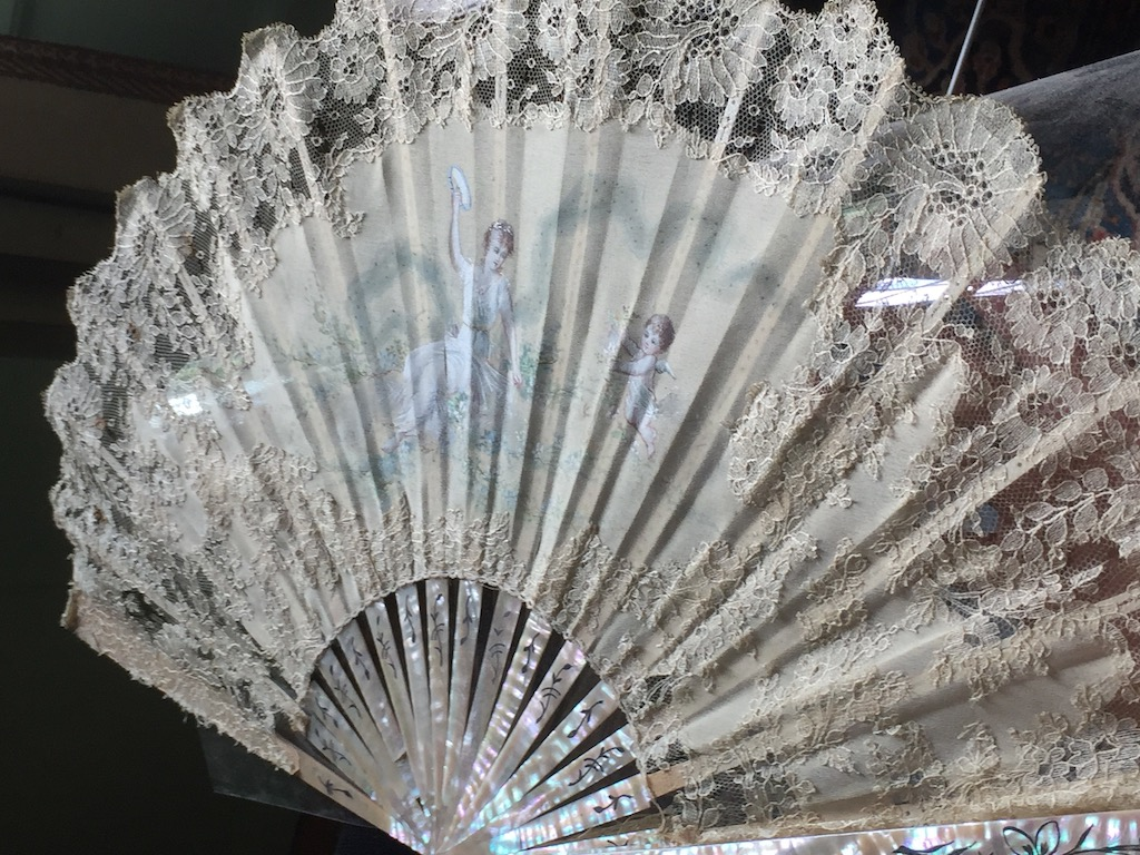 One of the hand fans we spotted at Swan House. Image © Design Diary.
