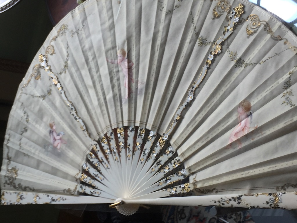 The most elaborate hand fan we saw at Swan House. Image © Design Diary.