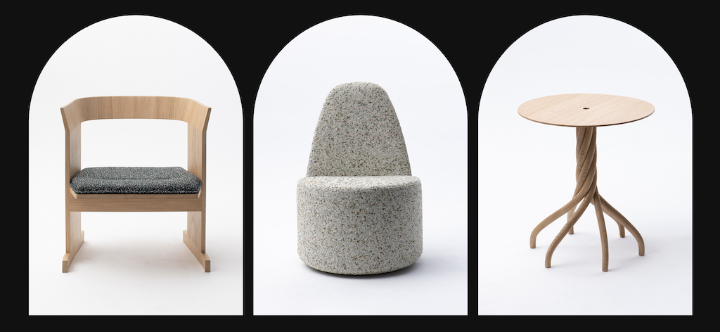 Spin Table, far right, by Gregory Lacoua for Souchet. Image courtesy Souchet.
